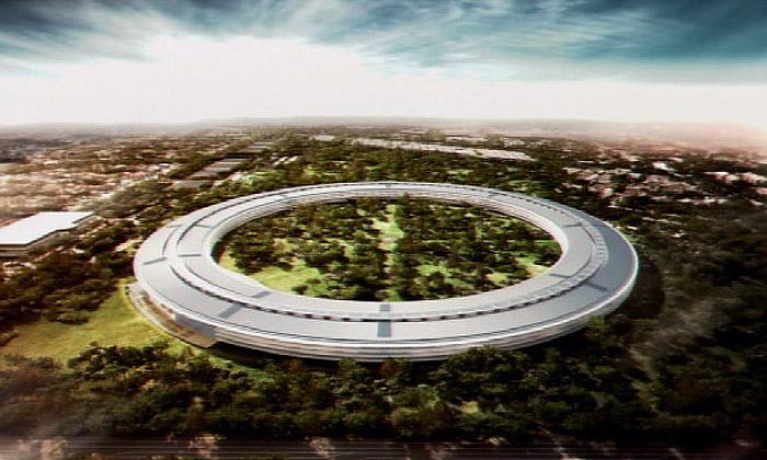 Apple postaví nové sídlo stvarem kosmické lodi