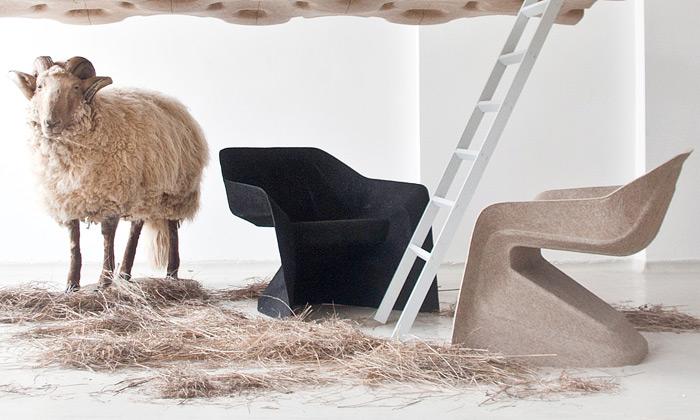 Aisslinger uvádí zcela ekologickou židli Hemp Chair