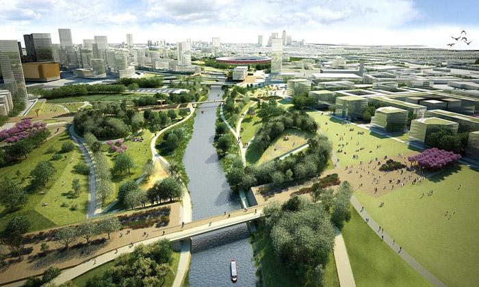Londýn buduje olympijský park plný umění ikvětin