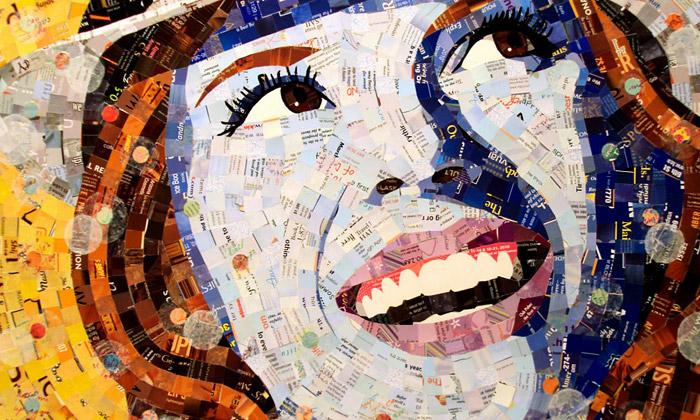 Schimmel lepí mozaiky portrétů znevyžádané pošty