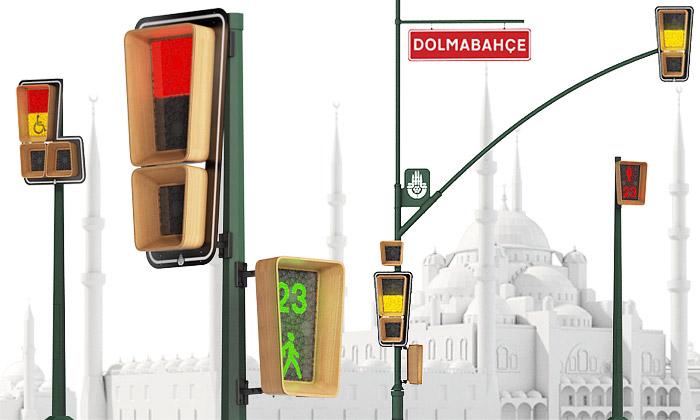Art Lebedev navrhli semafory vetvaru vykřičníku