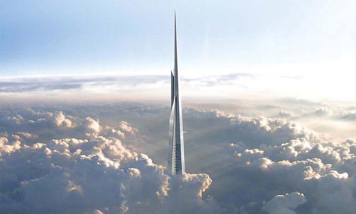 Plánovaná Kingdom Tower jako nejvyšší stavba světa s kilometrem výšky