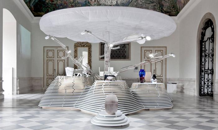 Křehký design vystaven namikulovském zámku