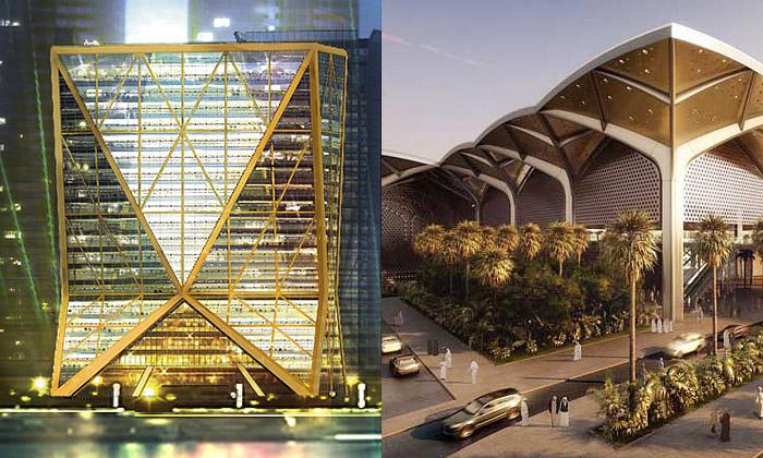 Foster staví bronzový mrakodrap inádraží vArábii