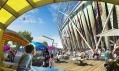 Olympijský stadion od Populous pro letní olympijské hry Londýn 2012