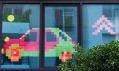 Nalepovací papírky v oknech v projektu Post'it War