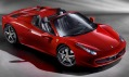 Otevřený supersportovní vůz Ferrari 458 Spider
