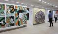 Pohled do výstavy Klubová epopej na přehlídce Designblok 2011