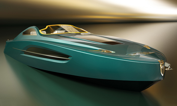 Voyage 55 jejachta vestylu luxusního Aston Martin
