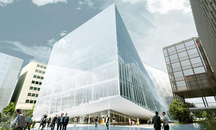 BIG staví vPaříži bortící sevýzkumné centrum PARC