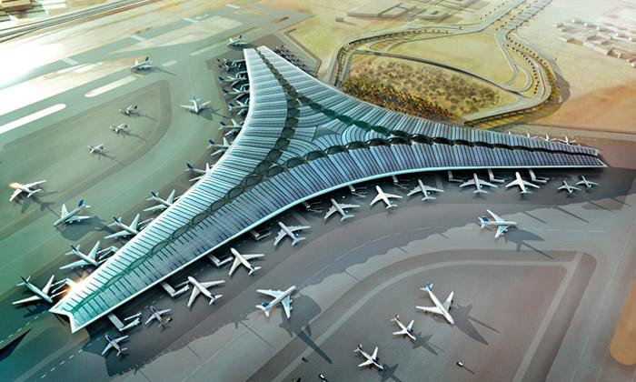 Kuvajt postaví trojcípé letiště odFoster + Partners
