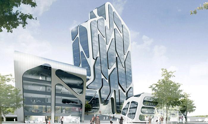 J. Mayer H. přestaví čtvrť Quartier M vDüsseldorfu