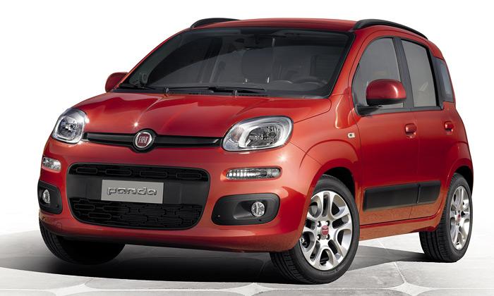 Nový vůz Fiat Panda jezdoben motivem squircle