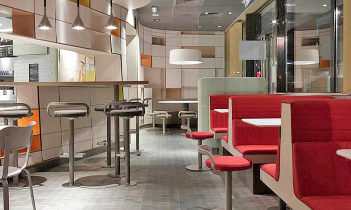 Norguet navrhl pro McDonald'sútulnější restaurace