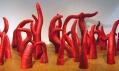 Yayoi Kusama navýstavě vCentre Georges Pompidou