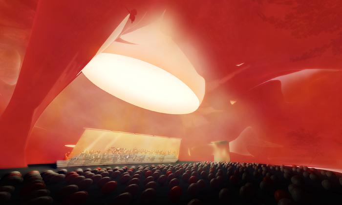 Anish Kapoor navrhl mobilní koncertní sál Ark Nova