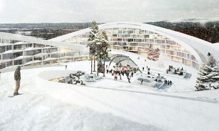BIG postaví resort Koutalaki sesjezdovkou nastřeše