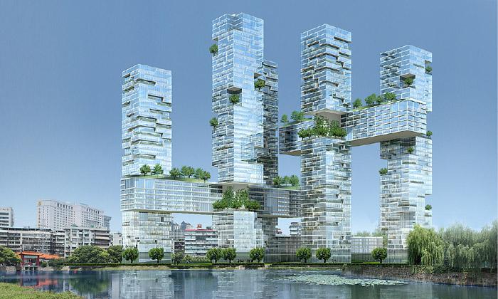 JDS postaví vČíně obytné mrakodrapy jako mikádo