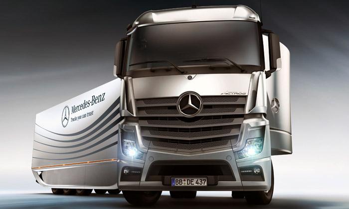 Mercedes-Benz Aero Trailer jenávěs budoucnosti