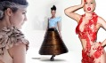 Extravagantní šaty odnávrhářů Rachel Freire, Hussein Chalayan aFranc Fernandez