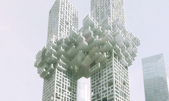 MVRDV postaví Soulu oblačné mrakodrapy The Cloud