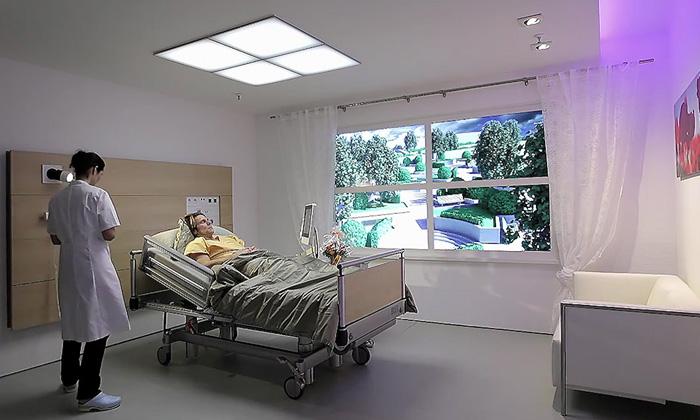 Philips HealWell jechytré osvětlení pokojů pacientů