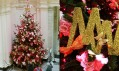Vánoční strom v muzeu Victoria & Albert v roce 2004 a Matthew Williamson