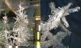 Vánoční strom v muzeu Victoria & Albert v roce 2003 a Alexander McQueen a Tord Boontje