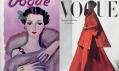 Obálka módního časopisu Vogue z roku 1934 a 1947