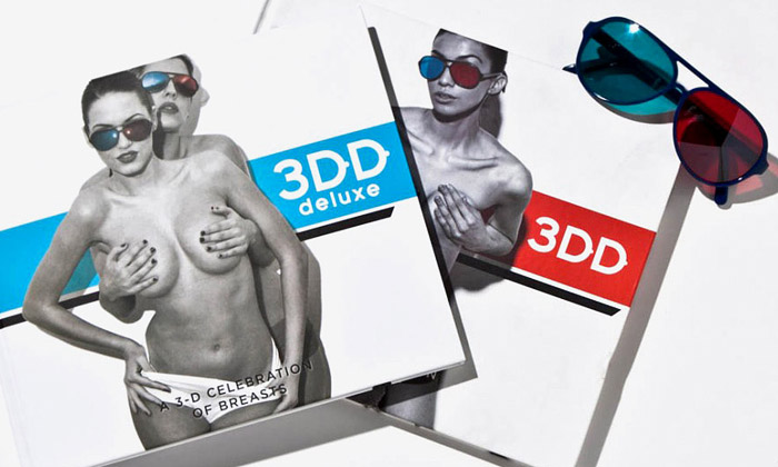 Kniha 3DD oslavuje 3D akty krásu žen ajejich prsou