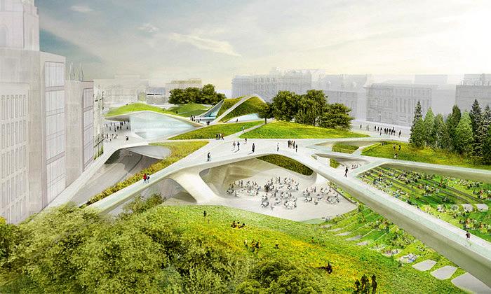 Aberdeen postaví víceúčelový park sesítí lávek