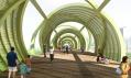 Pěší most Arganzuela i s parkem na vizualizaci