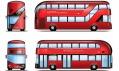 Londýnský autobus New Routemaster na nákresu