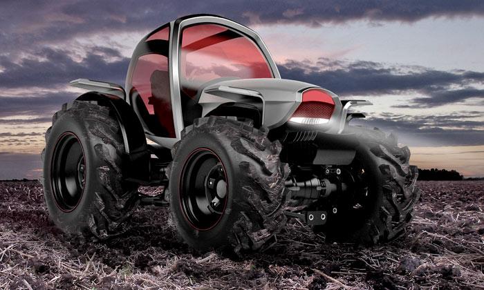 Český futuristický traktor Novo dostal cenu Red Dot
