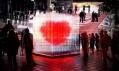 Valentýnské skleněné srdce od BIG na vizualizaci