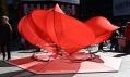 Valentýnské srdce na Times Square v roce 2011