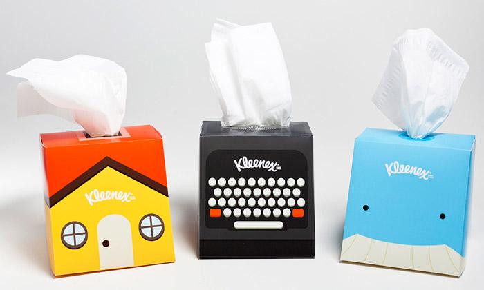 Chris Yoon navrhl hravější krabičky pro Kleenex