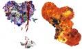 Marc Alain a jeho koláže do tvarů srdcí