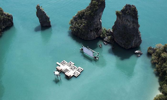 Ole Scheeren navrhl dothajské laguny plovoucí kino