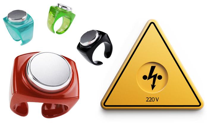 Art Lebedev navrhli prsten klíč ivarovnou zásuvku