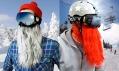 Chrániče obličeje s vousy značky Beardski