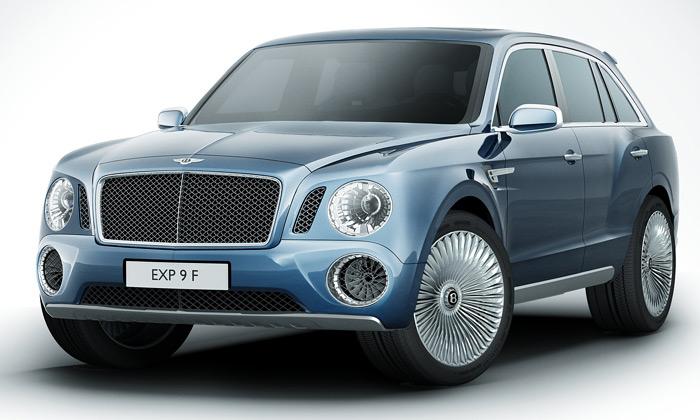 Bentley EXP 9 F jekoncept superluxusního SUV