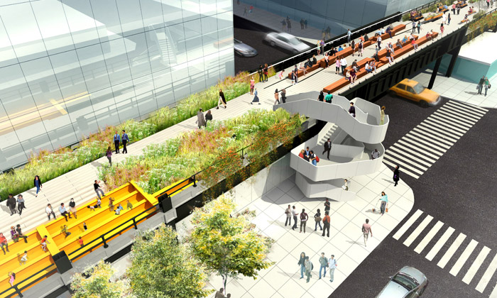 New York postaví poslední třetí část parku High Line