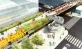 Návrh poslední třetí části parku High Line vNew Yorku naManhattanu