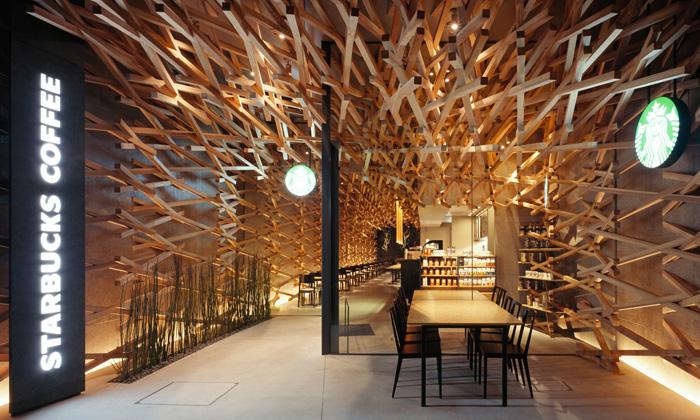 Kengo Kuma navrhli kavárnu Starbucks ztisíců latí