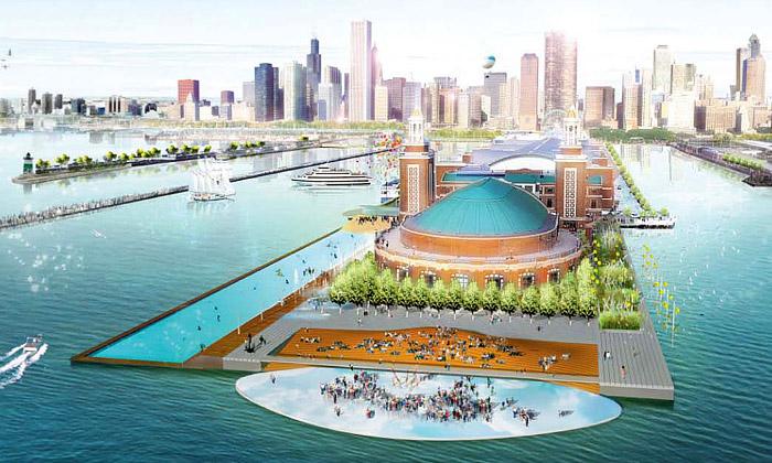 Chicago postaví kilometrové zábavní molo Navy Pier