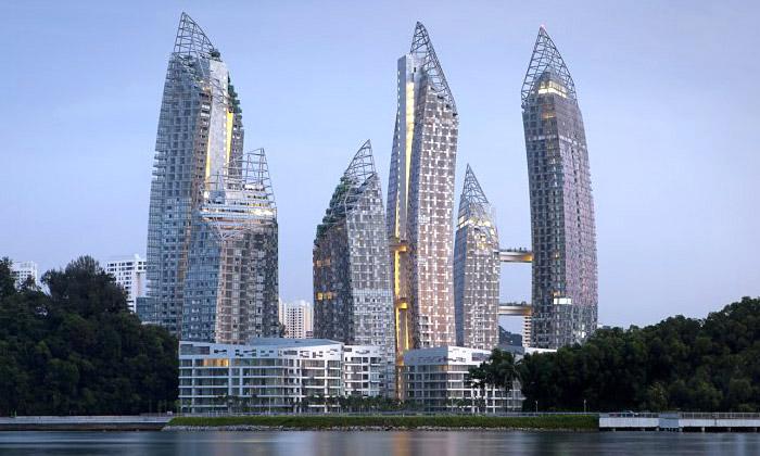 Libeskind postavil vSingapuru šest věží Reflections