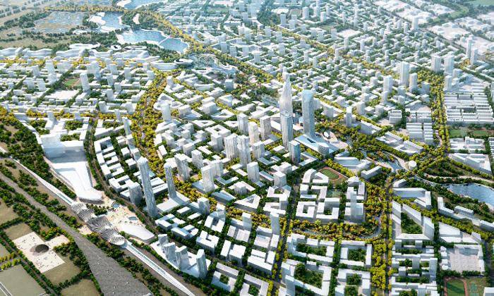 SOM postaví uPekingu obrovské zelené město Bohai