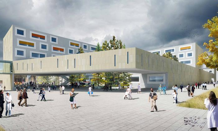 Salcburk staví nemocnici svelkými barevnými okny