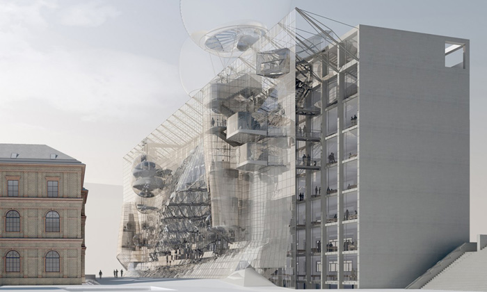 Vídeňská univerzita umění dostane sci-fi fasádu
